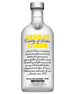 Absolut Citron Vodka 700mL Spirits bottle