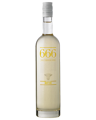 666 Autumn Butter Tasmanian Vodka 700mL Spirits bottle