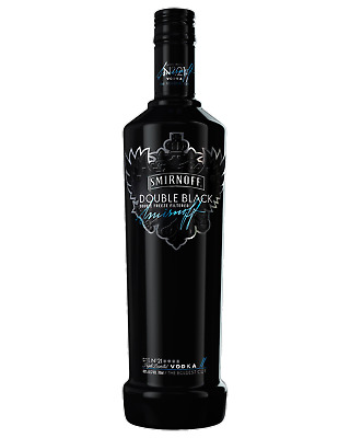 Smirnoff Double Black Vodka 700mL Spirits bottle