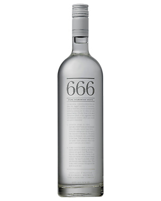666 Pure Tasmanian Vodka 700mL Spirits bottle