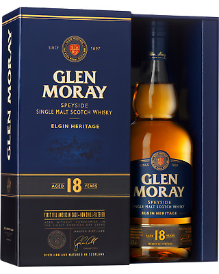 Glen Moray 18 Year Old Single Malt Whisky 700mL bottle
