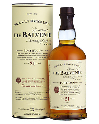 The Balvenie PortWood 21 Year Old Single Malt Scotch Whisky 700mL bottle