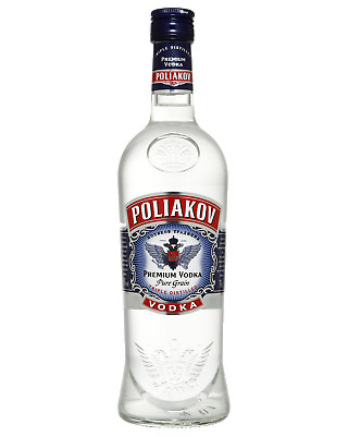 Poliakov Vodka 700mL Spirits case of 6