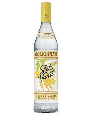 Stolichnaya Vanil Vodka 1L Spirits bottle