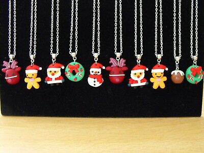 Wholesale Jewellery 10 Christmas Necklaces,gifts, Party Bags,job Lot,retail