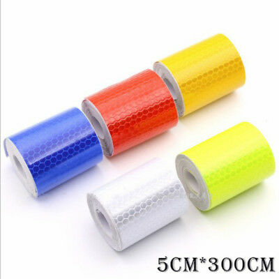 5cm*3M Reflective Self-adhesive Tape Car Warning Conspicuity Film Roll Sticker~-