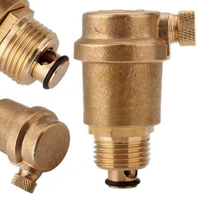 "1/2"" Brass Automatic Air Vent Valve High Temperature Resistance Pressure 16MPa"