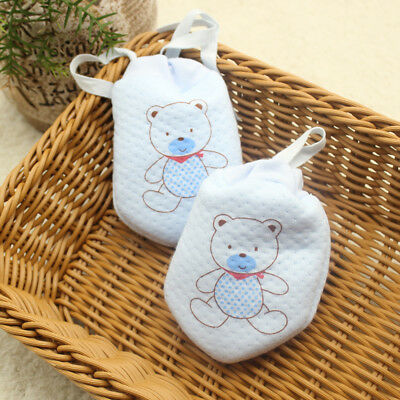 3Pair Baby Anti Scratch Gloves Newborn Protection Face Cotton Scratch Mittens SA