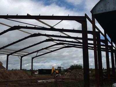 Used Steel Portal Frame Farm Building, Barn, Approx 23M long by 23M wide