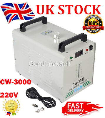 CW-3000 220V Thermolysis Industrial Water Chiller fr 60/80W CO2 Glass Laser Tube
