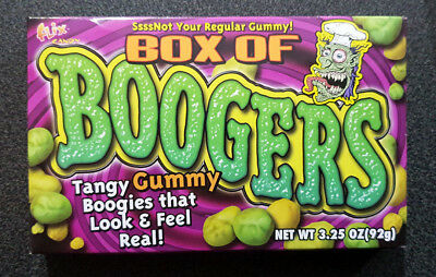 3 x Boogers Tangy Gummy Halloween Candy Box 92g - USA
