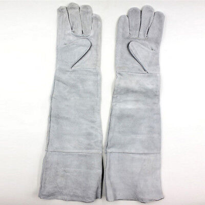 Breathable Welding Hand gloves Heat insulation 1 Pair Long Cuff Leather Cowhide