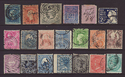 NSW Group of 20 different stamps used