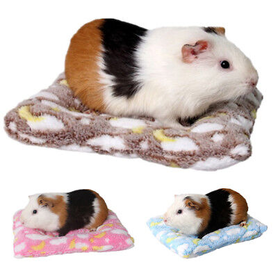 Soft Warm Plush Pet Fleece Blanket Mat Pad Cover For Cushion Guinea Pig Hedgehog