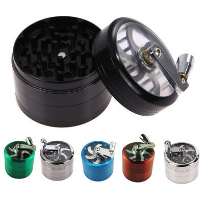 Tobacco Herb Spice Grinder 4 Part Herbal Alloy Smoke Metal Chromium Crusher New
