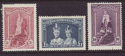 1938 Coronation set in Thick paper fresh MLH & No faults.