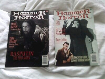 HAMMER HORROR MAGAZINE ISSUE 1 and 4