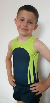 Champ Boys Lycra gymnastics Leotard with free shorts