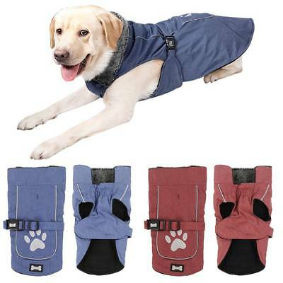 Waterproof Pet Dog Puppy Coat Winter Warm Clothes Jacket Vest Rain Coat S-XXL