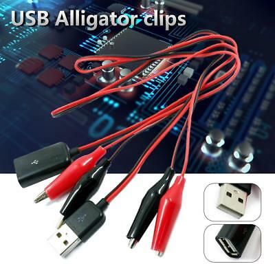 Alligator Test Lead Clips Dual Male To USB Female Male Adapter 58 cm/22.83 in