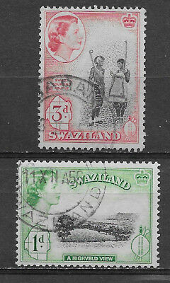 Swaziland , South Africa , 1956 , Set Of 2 Stamps  , Perf , Used