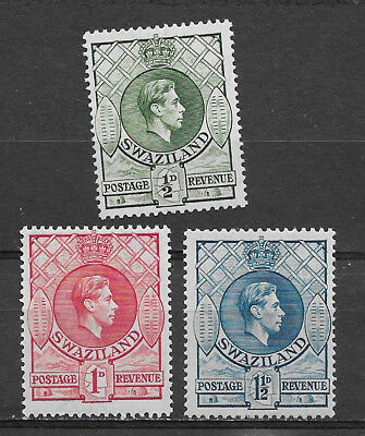 Swaziland , 1933 , George V1 , Set Of 3  Stamps , Perf , Vlh