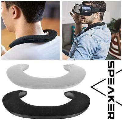 Wireless Bluetooth Stereo Wearable Ring Neck Speaker Hanging Microphone Audio