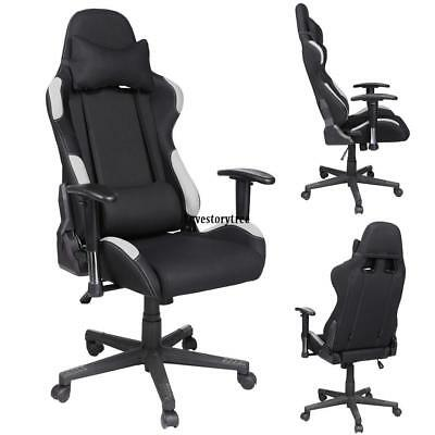 Office Gaming Chair Racing Ergonomic PU Leather High Back Computer Seat 4-Types