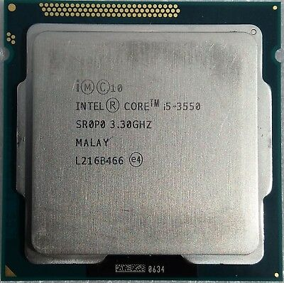 Intel Core i5-3550, SR0P0, 4x 3.3GHz (3.7GHz Turbo), Socket 1155 (LGA1155)