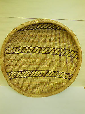 """Southwest Style Basket handcrafted 14"""" diameter & lovely!"""