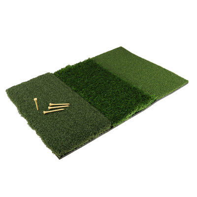 3 Types Grass Turf Mat Golf Club Practice Hitting Mat Indoor Training Aids