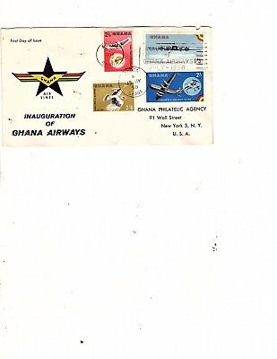 GHANA  1959 GHANA AIRWAYS ACCRA to LONDON -FIRST FLIGHT COVER (mb5