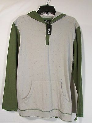 Boys XL Lightweight Hoodie Green Gray Splatter Hoody Buffalo David Bitton NEW