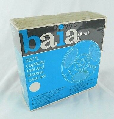 Baia Dual 8 200 ft Reel & Storage Case, Set of 3 New Sealed in Package