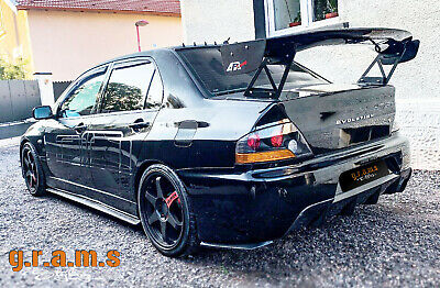 Mitsubishi Lancer Evolution Evo 7/8/9 FIBERGLASS gt wing spoiler full kit v6