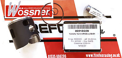 YAMAHA YZ125 WR125 YZ WR 125 1998 - 2001 53.95mm (A) WOSSNER COURSE Kit piston