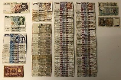 100 x Mixed Collectors Banknote Collection - ITALY.   (2160)