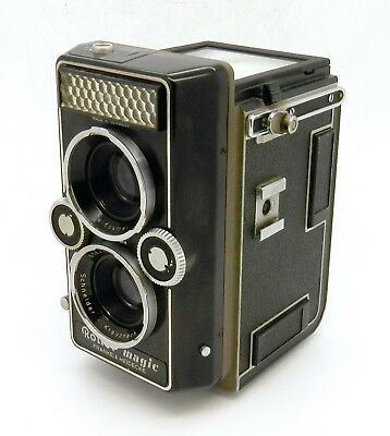 Vintage Rollei Rolleiflex Magic Tlr Camera - 75Mm Heidosmat Lenses (Read) #3056