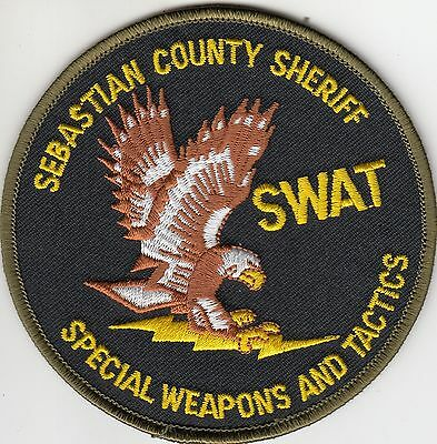 Sebastian County Sheriff Swat Police Patch Arkansas Ar Special Weapons & Tactics