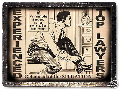 LAWYER ATTORNEY metal SIGN paralegal VINTAGE style OFFICE wall decor plaque 192