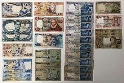 29 x Mixed Banknote Collection - Portugal - *Bulk lot*  (2155)