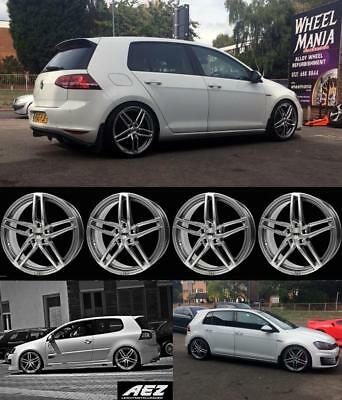 "18"" Vw Golf Alloys And Tyres  Aez Made In Germany Half Price Sale Fit Mk5/6/7/8"