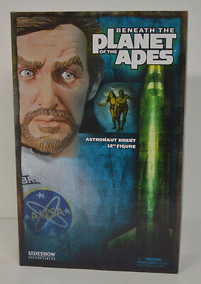 Astronaut Brent Planet of the Apes Sideshow MIB 12in Action Figure 1/6th scale