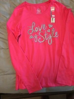 Love my style Girls Shirt Top Long Sleeve Size XL (14-16) Faded Glory