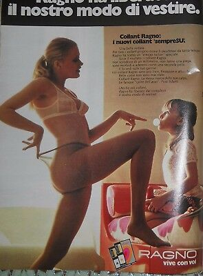 Collant Pantyhose Bas Legs - Ragno - Advertising - year 1971 - ami20