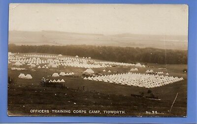 Old Vintage Rp Postcard Wwi Officers Training Corps Camp Tidworth Military