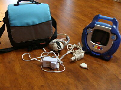 Fisher Price Kid Tough Portable DVD Player, case and accessories Blue-Rare Works
