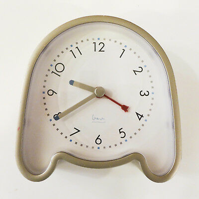 Michael Graves Blue Halo  small alarm clock, Works, good cosmetic condition