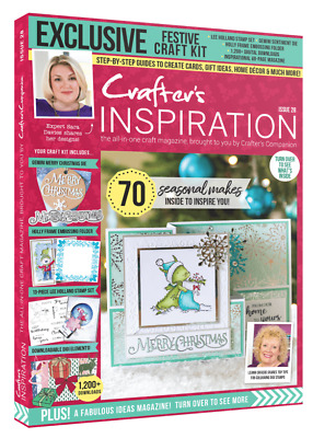 Crafters Companion CRAFTERS INSPIRATION Issue 20 Festive Edition - £50 FREE KIT