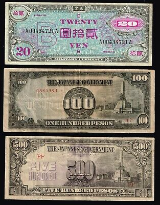 Japan Currency Paper Money Collection Lot